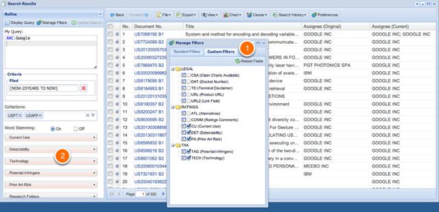 Managing Custom Filters & Facets