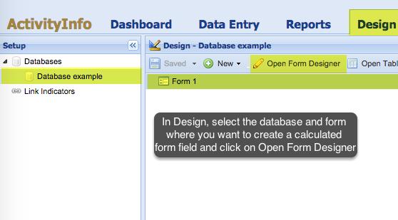 Access Open Form Designer