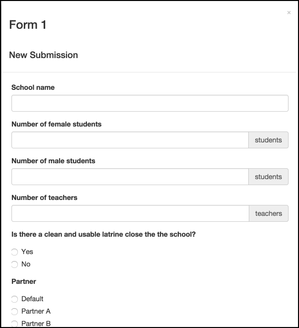 Fill in the form