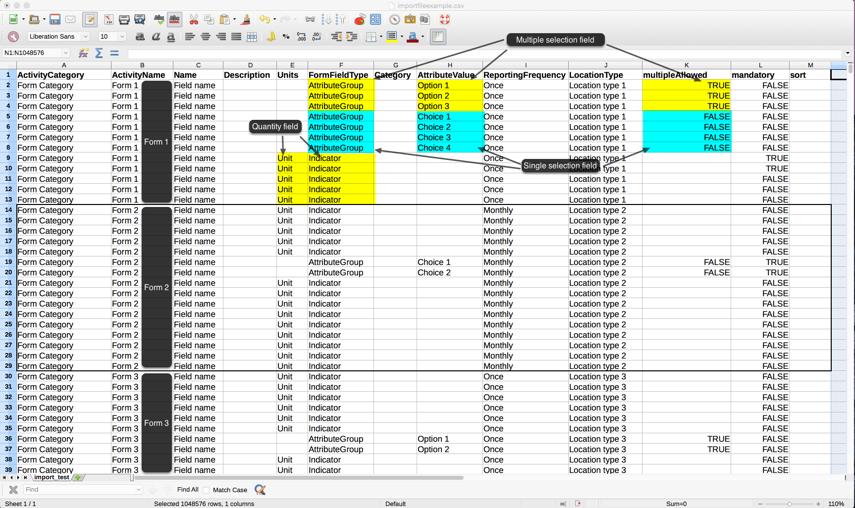 Preparing a schema import file