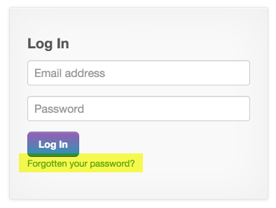 """Click the """"Forgotten your password?"""" link"""