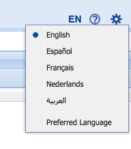 Switching the language of the user interface