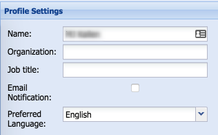 Setting a preferred language