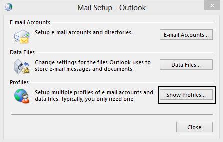 Mail Management Option Selection