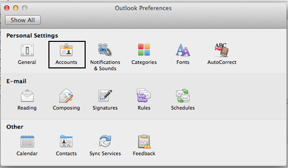 Outlook Preferences