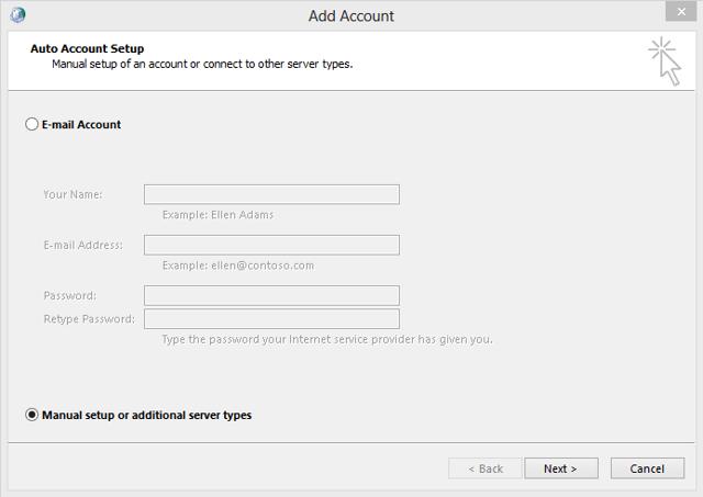 Select Manual Configuration