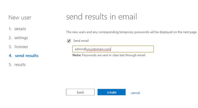 Email password
