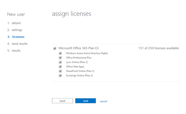 Assign license