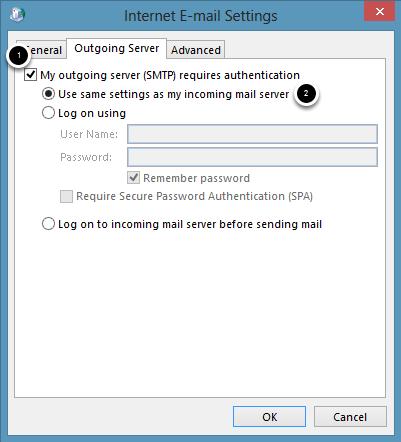 Outgoing Server