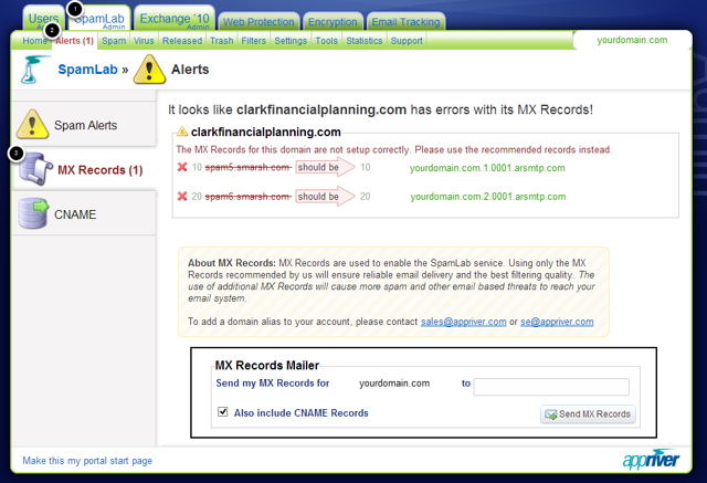Where do I find my AppRiver DNS records?