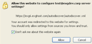 The Autodiscover Prompt