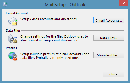 Mail Management Option Selection