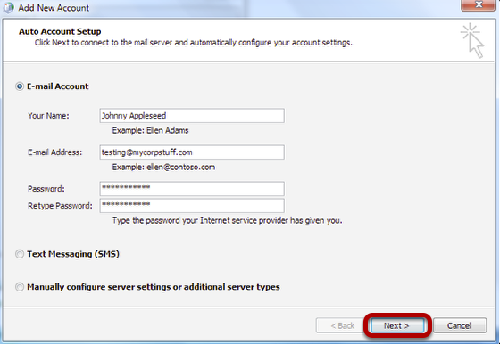Auto Account Setup