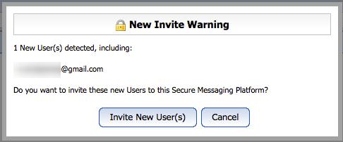 New Invite Warning will pop up