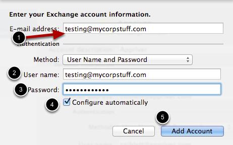 Exchange Account Information
