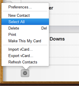 2. Select ALL Contacts