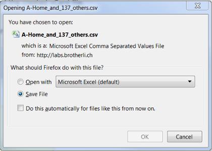 6. Save the .csv file