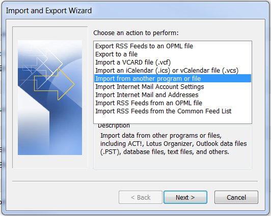 10. Import Wizard - Import file