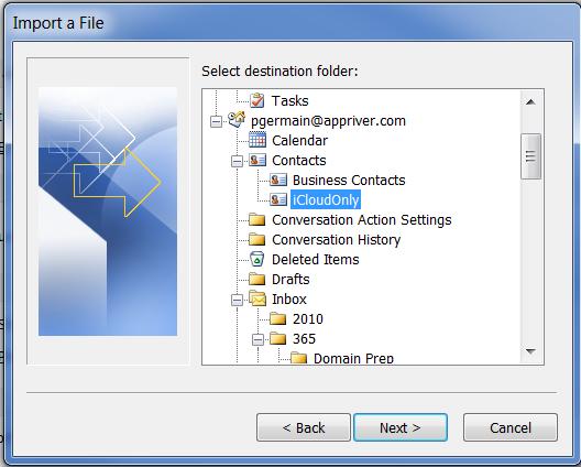 13.  Select Target Folder