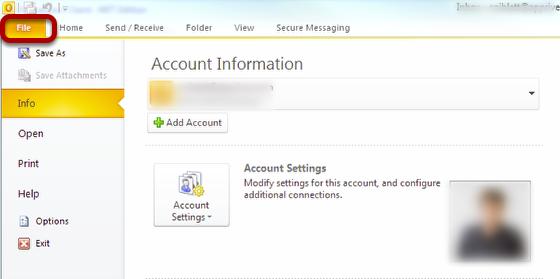 Repairing a Profile - Outlook 2010