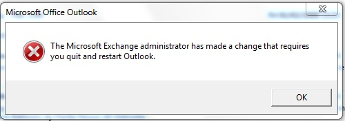 A Microsoft Exchange Administrator has made a change.