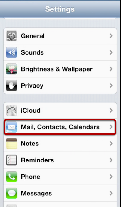 Mail,Contacts, Calendars