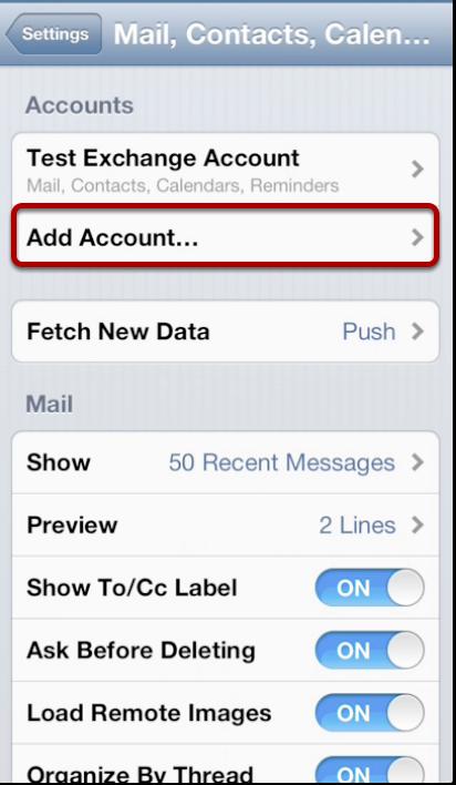 Adding Account
