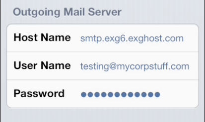 Outgoing Mail Server