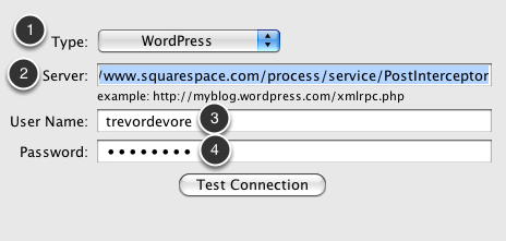 Configuration Settings for Squarespace