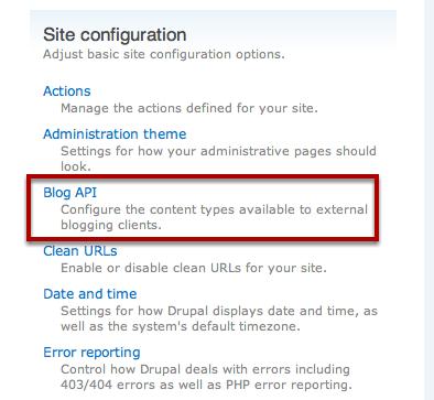 Enable Blog API