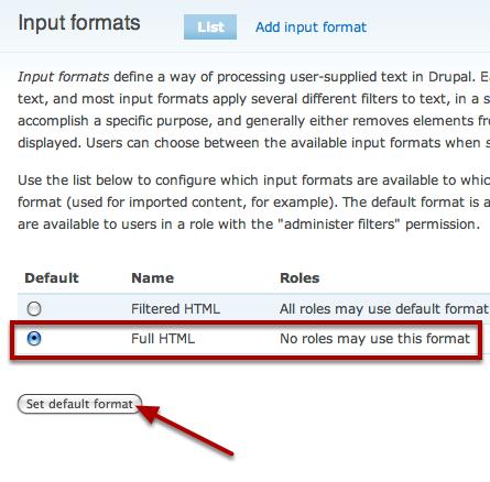 Change Default Input Format