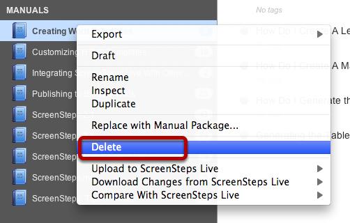 Step 1) Delete Manual