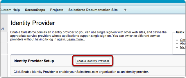 Enable Identity Provider