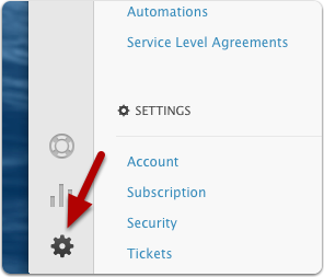 Go to Settings in Zendesk