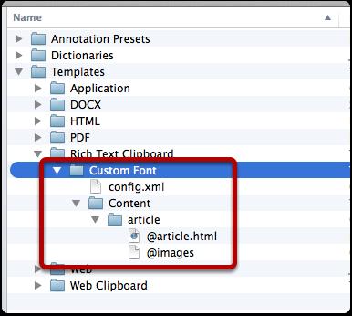 Adding an HTML template folder