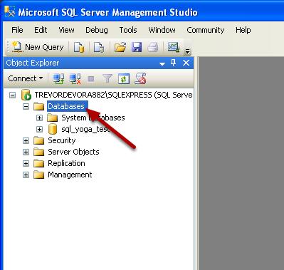 Open Microsoft SQL Server Management Studio