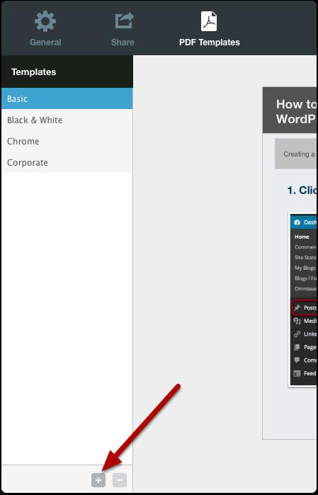 Create a custom template