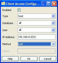 Configure New Entry