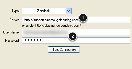 Enter your URL and Credentials
