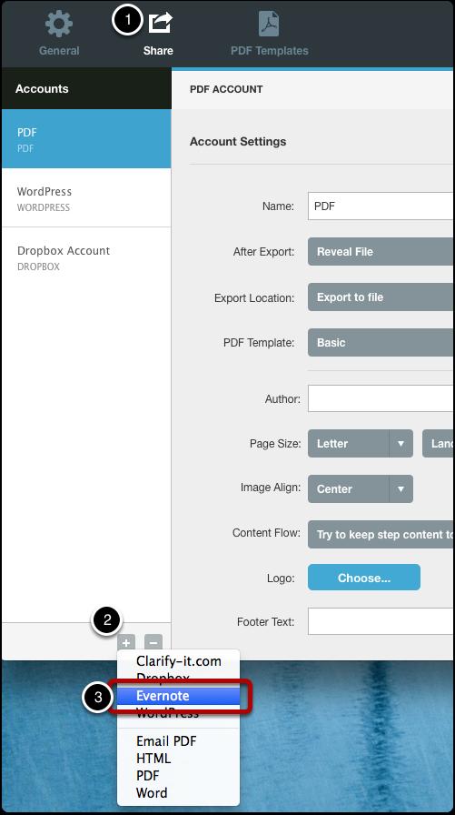 Create a sharing account