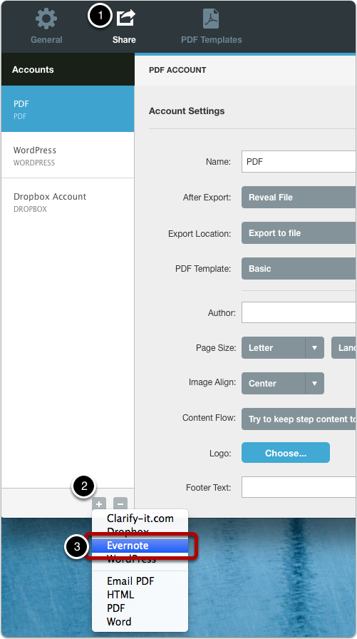 Create a sharing account