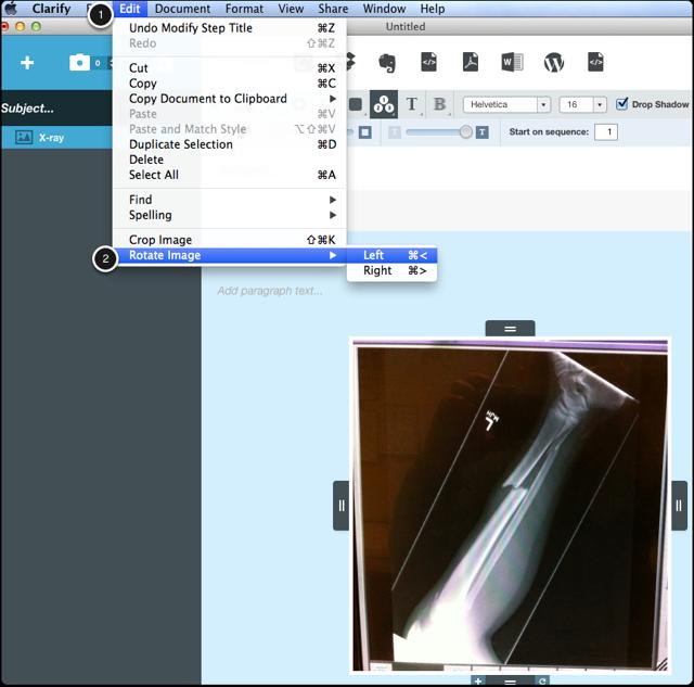 Select Edit > Rotate Image