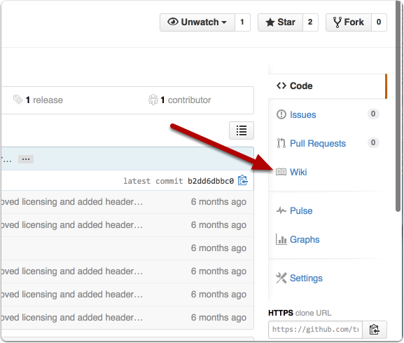Click on the Wiki link in the sidebar of your repository