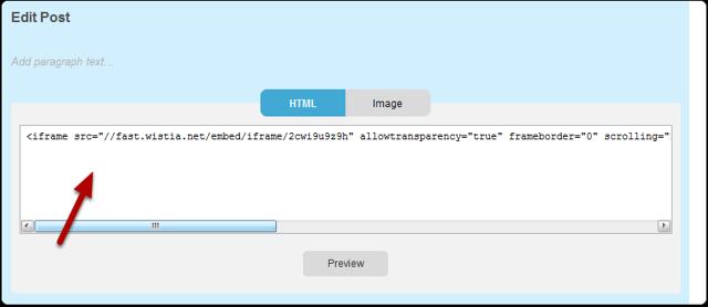 Enter HTML