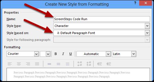 ScreenSteps Code Run