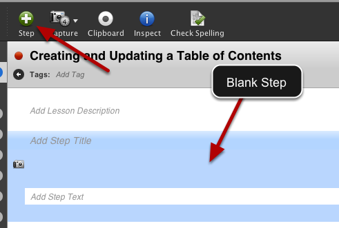 Create a Blank Step