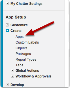 Go to Create > Apps