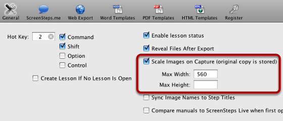 How ScreenSteps Determines How to Scale Images You Capture
