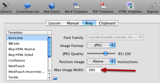 Scaling Images When Exporting