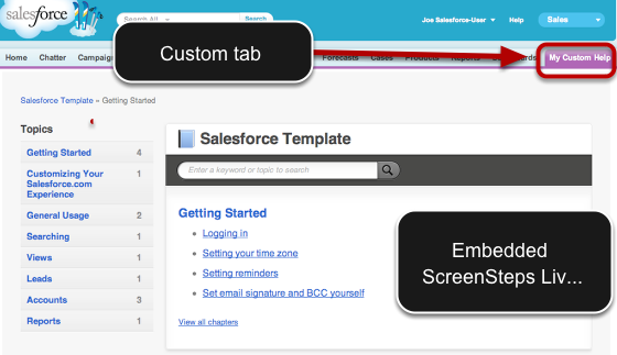 Custom Tab in Salesforce